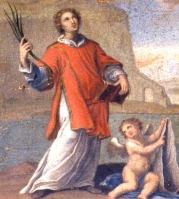 detail from the painting 'S. Cesareo deacon and martyr' by G. Vieste, 1805; swiped from Wikimedia Commons