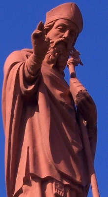 statue of Saint Eucherius of Lyon, Beaumont-de-Pertuis, taken in February 2008 by Paul Munhoven; swiped off Wikipedia