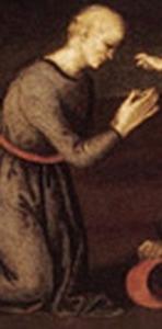 detail of the painting 'Saint Jerome saving Silvanus and punishing the Heretic Sabinianus' showing Saint Eusebius raising three men from the dead, by Raffaello Sanzio da Urbino, c.1502; currently in the North Carolina Museum of Art, Raleigh, North Carolina