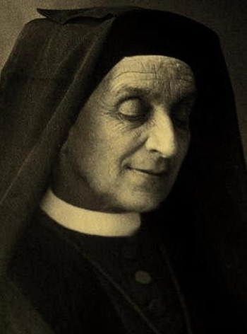 detail of a photograph of Mother Françoise de Sales Aviat; 1895, photographer unknown; swiped from Wikimedia Commons