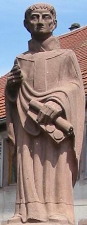 Saint Fulrad of Saint Denis; swiped from Wikimedia Commons