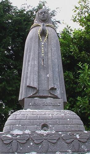 statue of Saint Gobnata, date and artist unknown; swiped from Santi e Beati