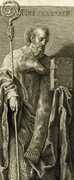 illustration of Saint Gregory of Nyssa; by Francesco Bartolozzi after Domenichino, 19th century; swiped from Wikimedia Commons