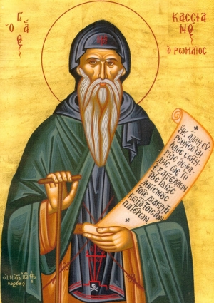 icon of Saint John Cassian, date and author unknown; swiped from Wikimedia Commons