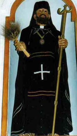 statue of Saint Giovanni Theristi, location, artist and photographer unknown; swiped from Santi e Beati