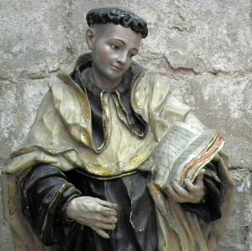 statue of Saint John of the Cross in the Museo Diocesano y Catedralicio, Valladolid, Castile and Leon, Spain; 18th century by Pedro de Sierra; photographed on 24 November 2010 by Mattana