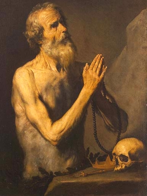 painting of Saint Onophrius; 1637 by Jusepe de Riberta; The Hermitage, Saint Petersburg, Russia