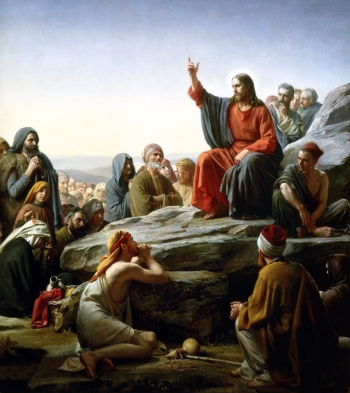 detail of the oil on copper painting 'The Sermon on the Mount' by Carl Heinrich Bloch, 1877; Museum of National History at Frederiksborg Castle, Hillerød, Denmark; swiped from Wikimedia Commons