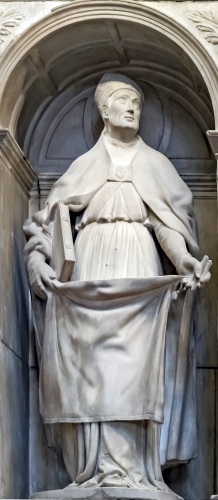 marble statue of Saint Severus of Barcelona by Bartolomé Ordóñez, 1519; Cathedral of the Holy Cross and Saint Eulalia, Barcelona, Spain; swiped from Wikimedia Commons