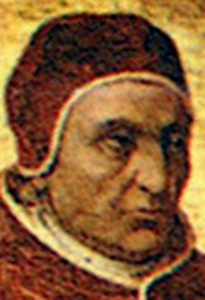 Pope Innocent VII in a camauro