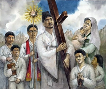 Martyrs of Korea, date and artist unknown; swiped from Santi e Beati