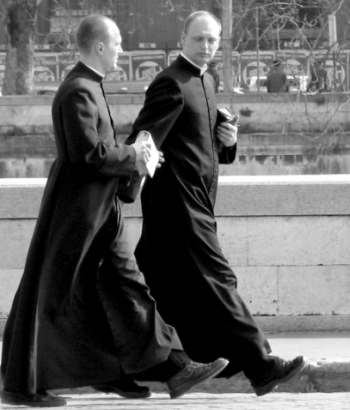 two priests in Rome, Italy; swiped from Wikimedia Commons