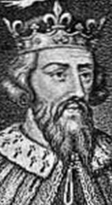 detail of a portrait of Alfred the Great, from 'Makers of History', A L Fowle, 1906