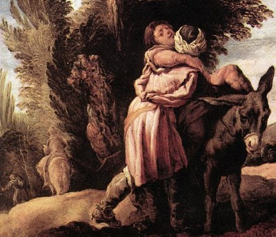detail from 'Parable of the Good Samaritan' by Domenico Feti, c. 1623, Gallerie dell'Accademia, Venice
