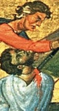 detail from a holy card Saint Satyrus