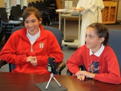 St. Jude Catholic school in Joliet, IL recording day