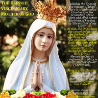 THE BLESSED VIRGIN MARY, MOTHER OF GOD. This is what the Catholic Church teaches and what we Catholics believe.
