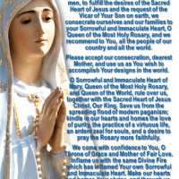 FEAST OF THE IMMACULATE HEART OF MARY:EXCERPTS FROM THE MEMOIRS OF SOR LUCÍA.