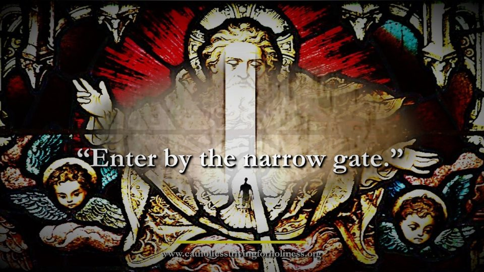 "DAILY GOSPEL COMMENTARY: ""STRIVE TO ENTER THROUGH THE NARROW GATE"" (Lk 13:22-30)."