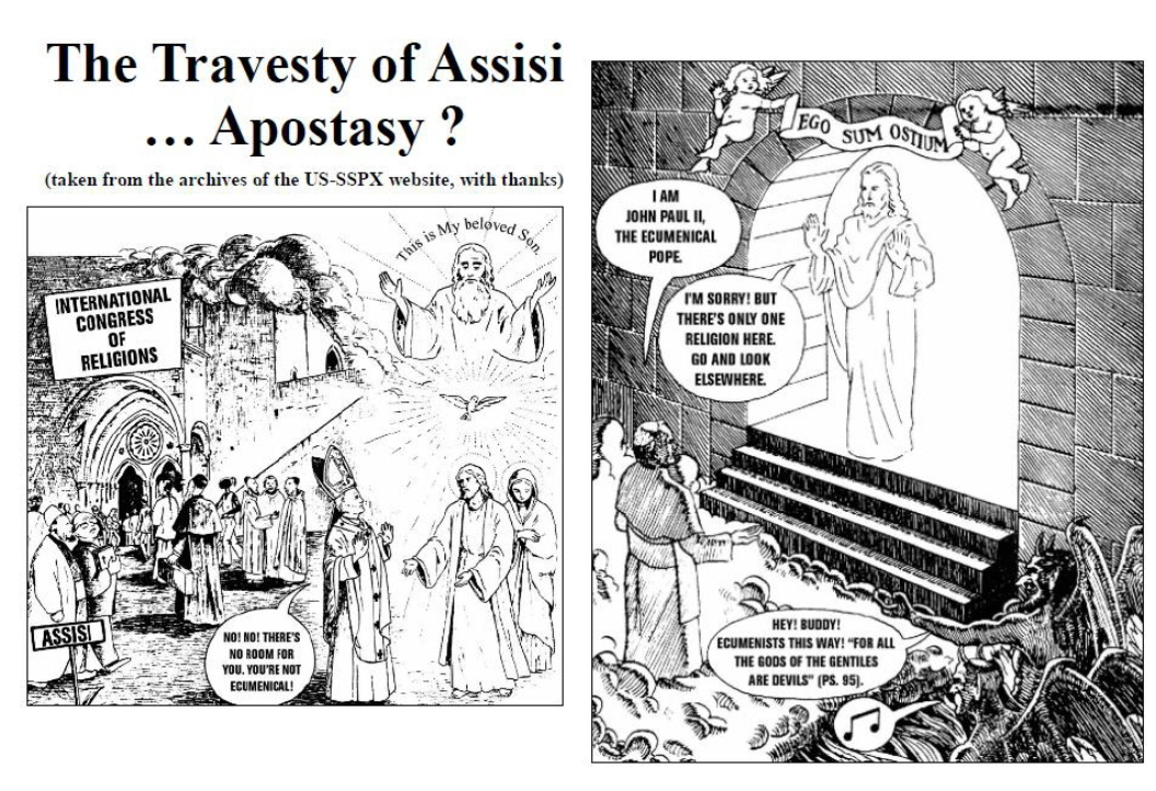 Is the SSPX Assisi cartoon offensive?