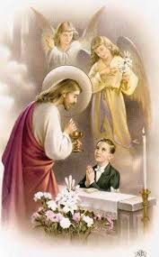 Our Lord giving Holy Communion