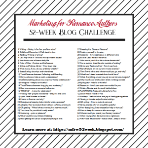 MFRW 52 week Blog challenge 2019