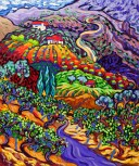 Wine covered Hills by Cathy Carey