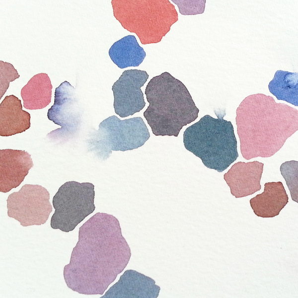Abstract watercolor paintings by Cathy Durso