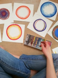 circle drawings by Cathy Durso