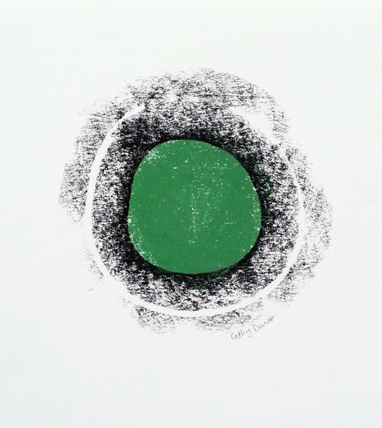 Green Circle with Black Border