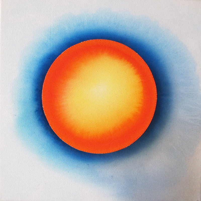 """Blue/Orange Eclipse"" by Cathy Durso"