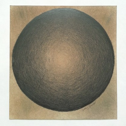 Black Sphere on Brown