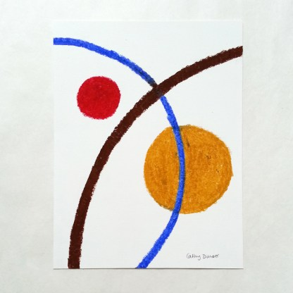 Composition with Red and Yellow Ochre Circles