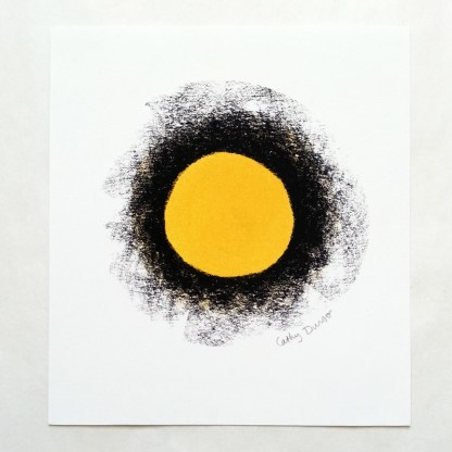 Yellow Circle with Black Border