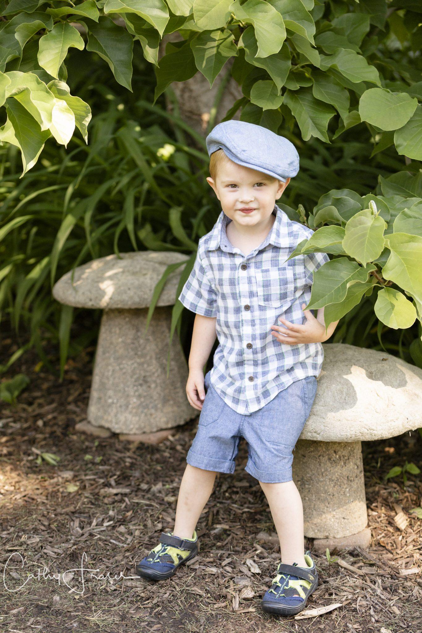 little boys, Rochester, New York, Summer, Natural Light photography, flowers