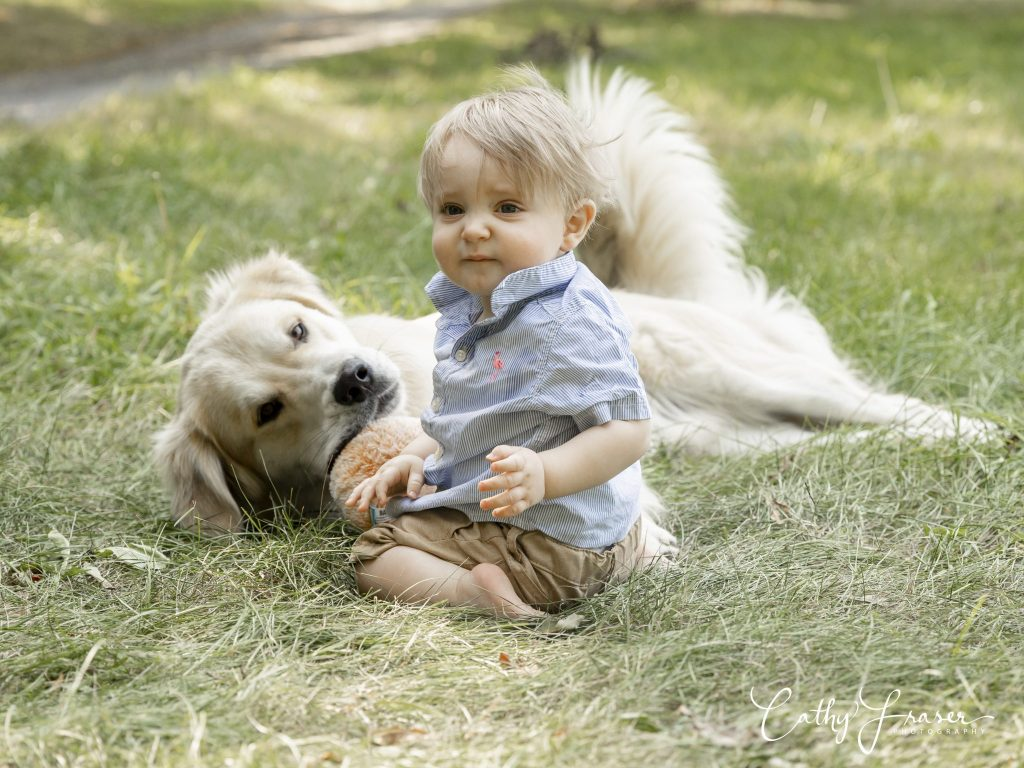 Lifestyle Photography image of a boy and a dog in the summertime in New York