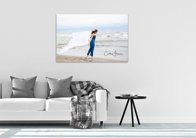 Lifestyle Photography Print in living room of home