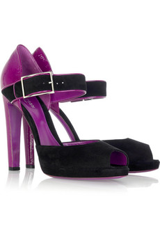 At www.net-a-porter.com, Sergio Rossi two-toned pumps, $650.