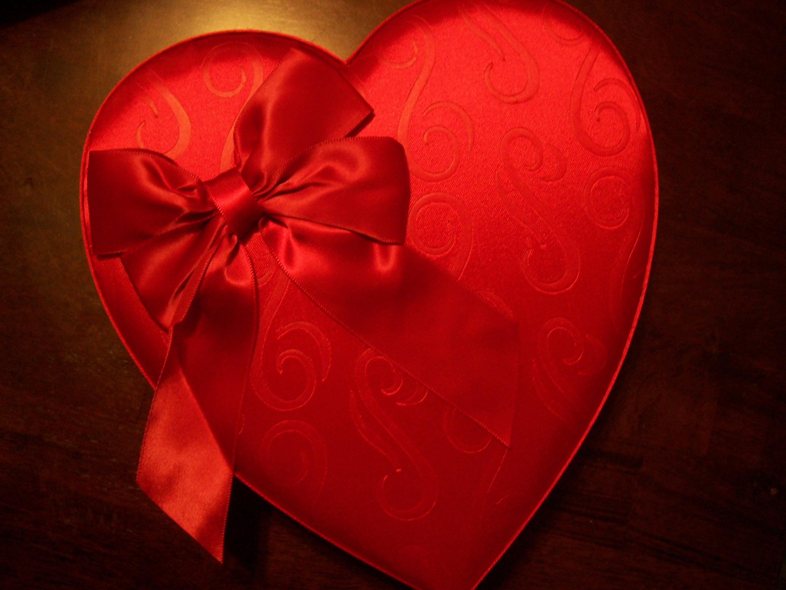 See's Red Satin Heart
