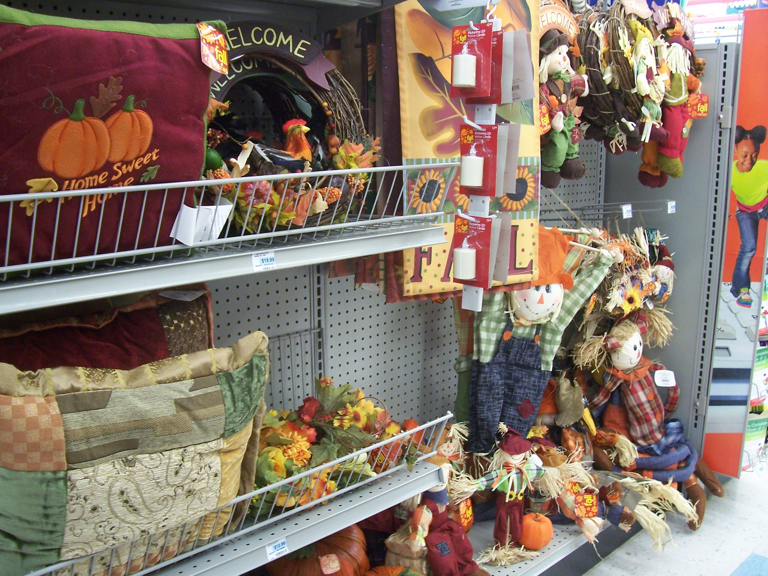 """The first sign of fall isn't football practice or back-to-school shopping  -- it's the """"seasonal"""" aisle at CVS changing from sunscreen and beach toys to pumpkins and scarecrows ... in the first week of August."""