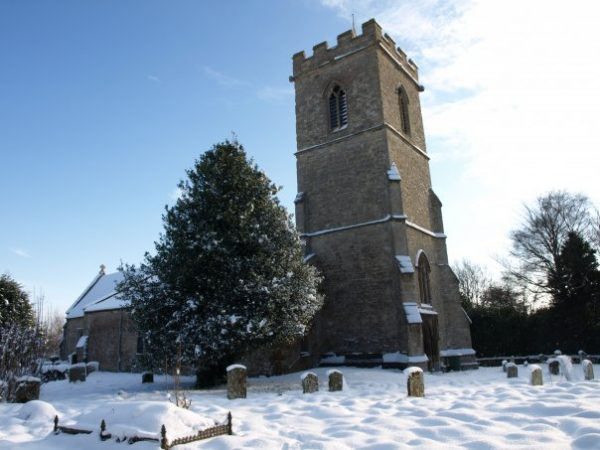 ©2010 Cathy Read - Tingewick church - Digital image