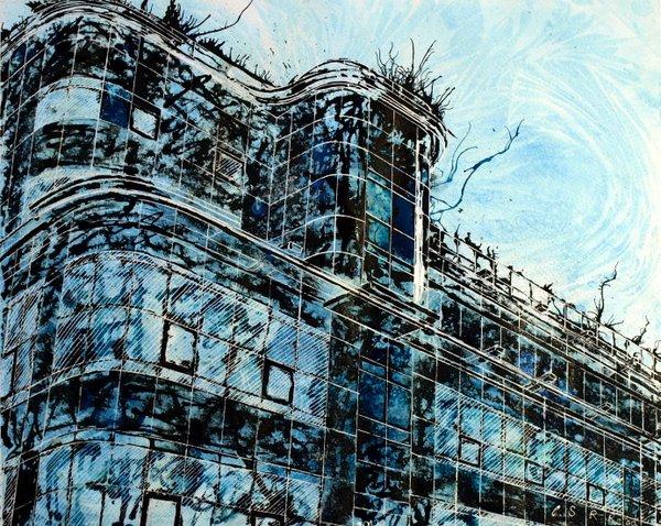 ©2012 - Cathy Read - Express- Mixed Media - 40x50cm