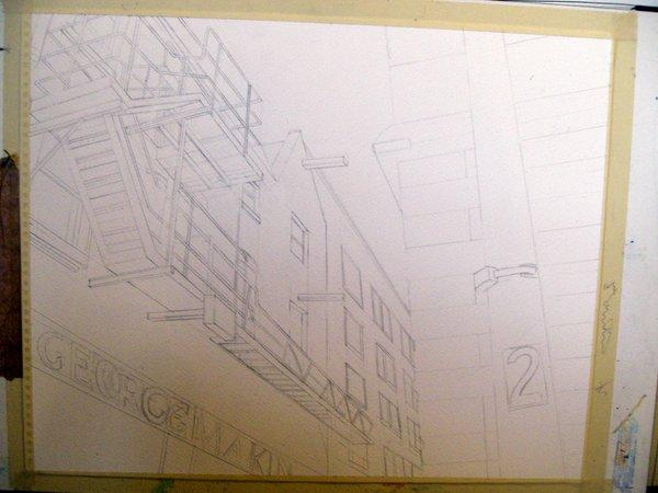 ©2012 - Cathy Read - Work in Progress- pencil -40x50cm