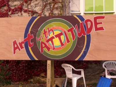 ©2012-Cathy Read Art - Graffiti Wall at Art in Woodstock - Approx 16ft x 3 ft