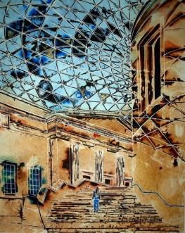 ©2011 - Cathy Read Art - Stepping into History - 50 x 40 cm - Mixed Media