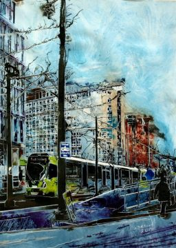 ©2015 - Cathy Read - City Reflections- Mixed Media- 76x56cm - £810 unframed