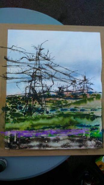©2016 - Cathy Read - Painting begins en plein air painting at Green Dragon- digital image