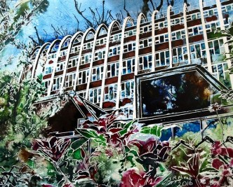 Manchester Paintins©2016-Cathy-Read-Toastrack-Mixed-Media-30x40cm