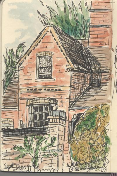 ©2009 Cathy Read -House watercolour and ink