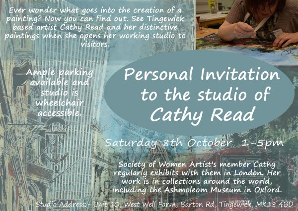 Come and see Cathy Read in her artists studio
